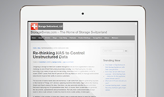 Re-thinking NAS to control unstructured data