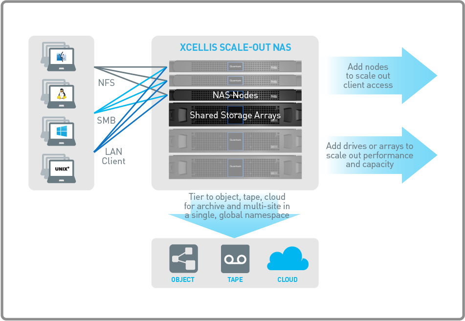 Xcellis Scale-out NAS Architecture